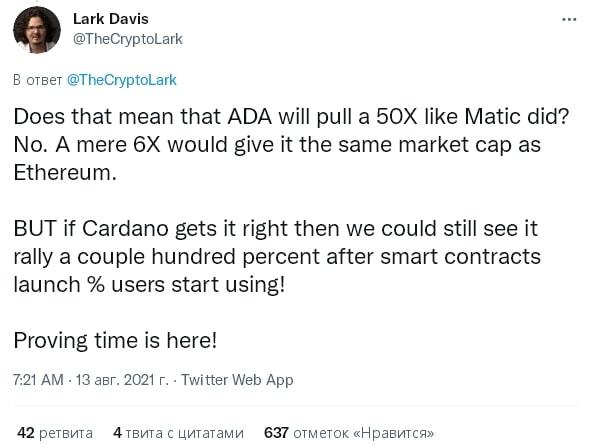 Что будет с ADA после Alonzo? Прогноз цены Cardano