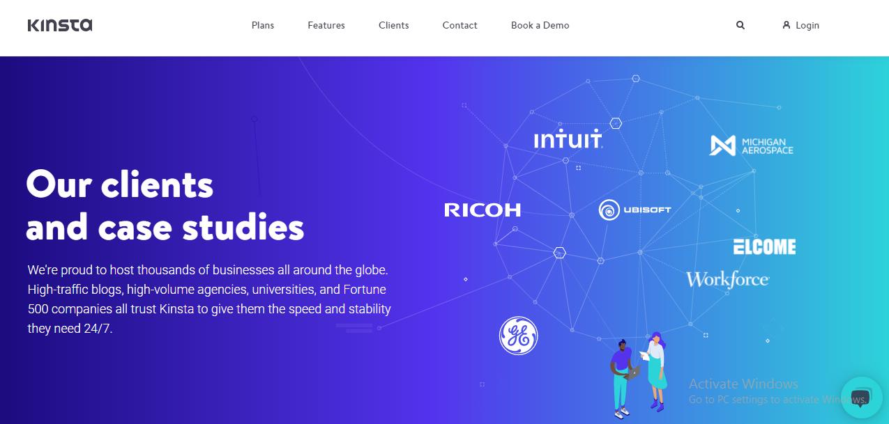 Kinsta website
