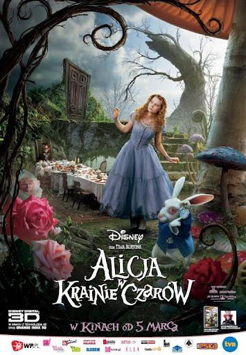 Polski plakat filmu 'Alicja W Krainie Czarów'
