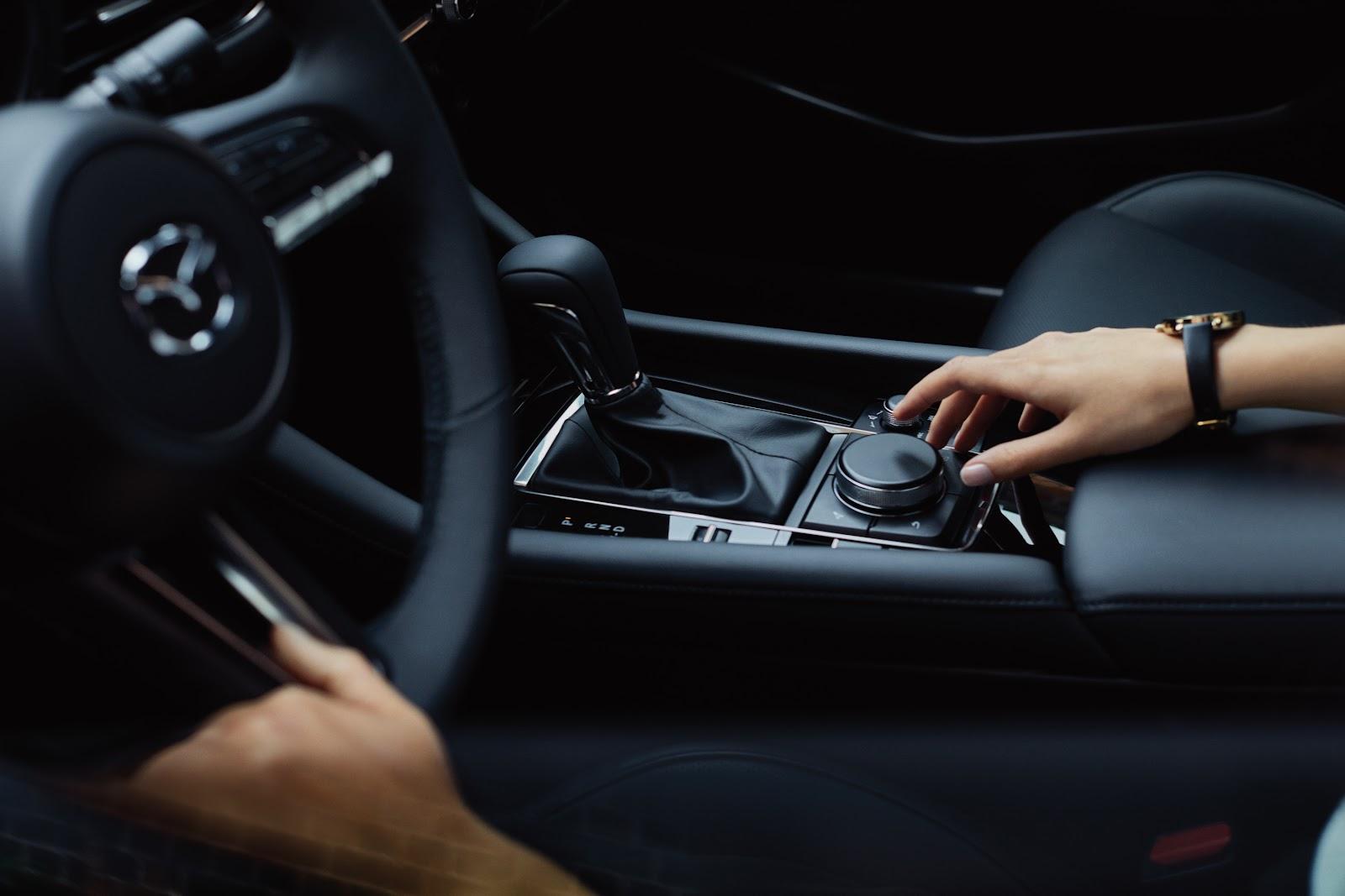 Person inside 2020 Mazda3