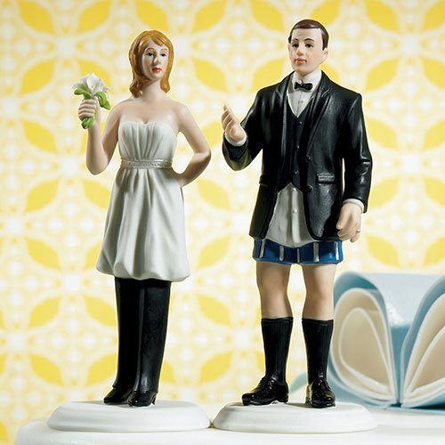 bride wearing the pants funny wedding topper