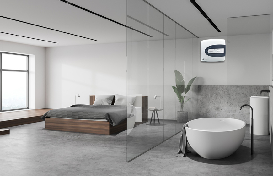 Kết hợp các tấm kính để tạo cảm giác tăng không gian phòng tắm