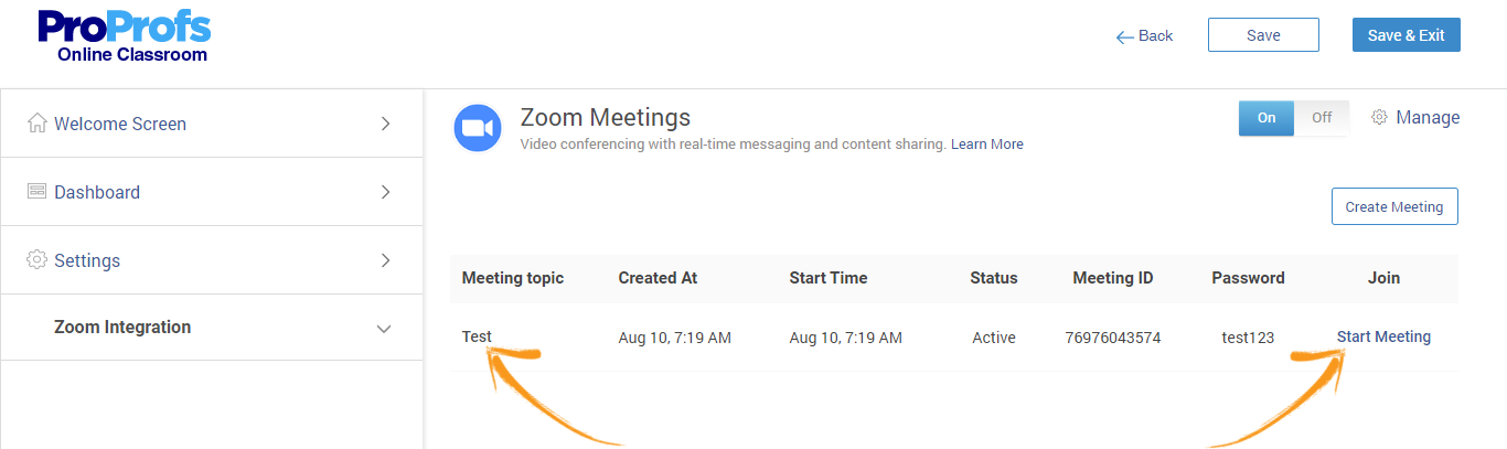Share Zoom meeting details