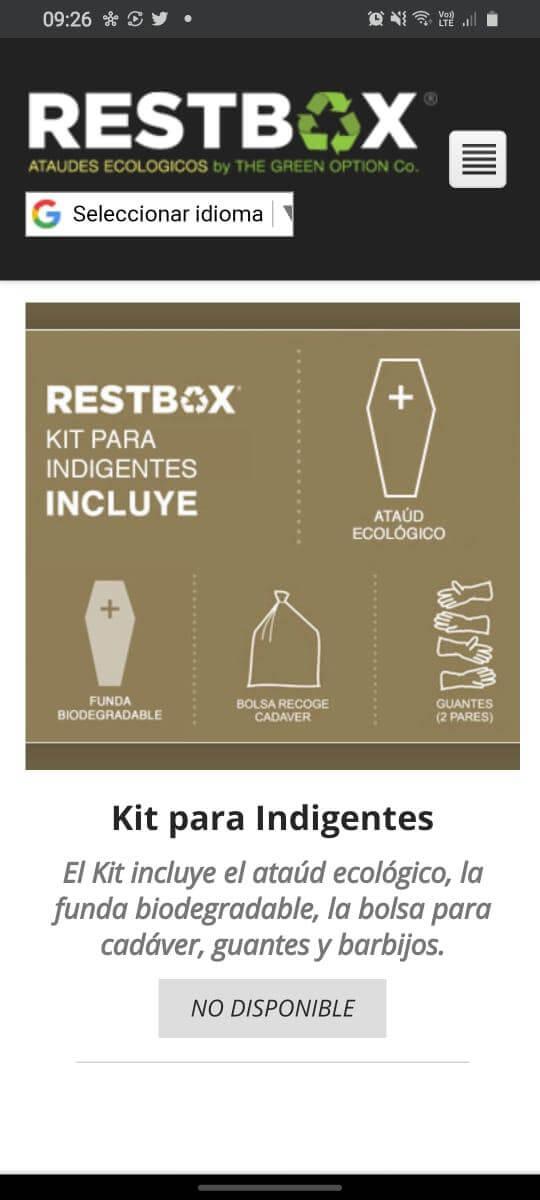 """""""Kit para indigentes"""" que ofrece la empresa.  (Foto: TN.com.ar)"""