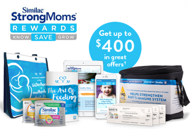 Get free baby stuff with Similac's StrongMoms Rewards program.