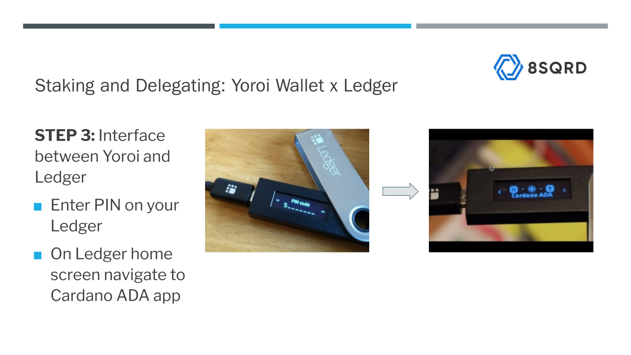 Setting up Ledger Nano for delegation