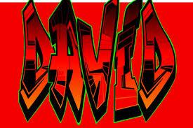 Resultado de imagen de david nombre graffiti
