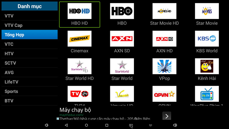 flytv ung dung xem truyen hinh tivi online mien phi cho android tv box flytvbox - nhom kenh tong hop