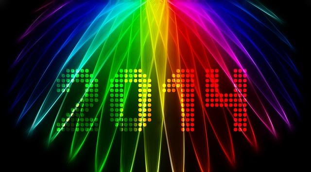 Año Nuevo 2014 moderno con colores