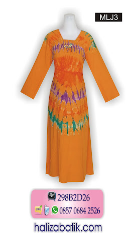 Baju Longdress, Longdress Batik, Batik Longdress, MLJ3