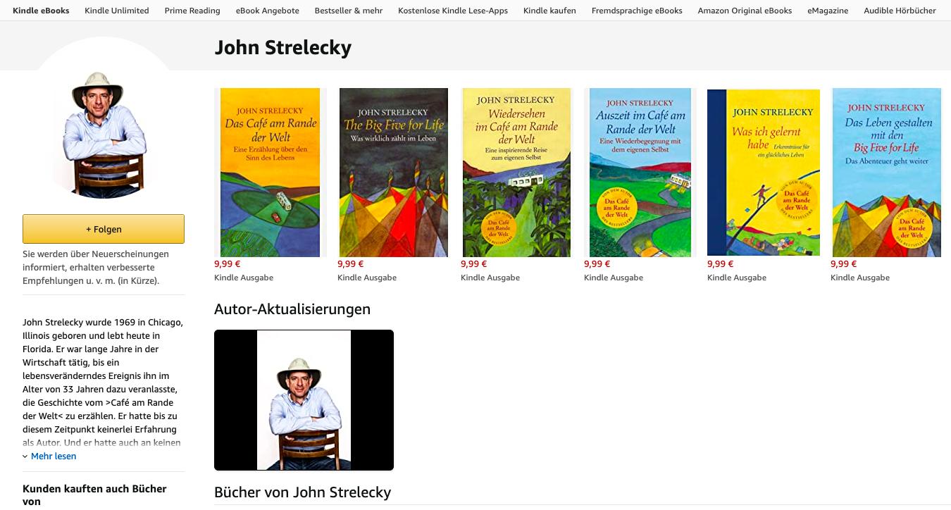 Amazon Autoren Seite