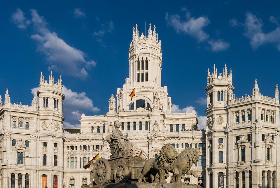 Madrid, Building, Architecture, Background, Urban