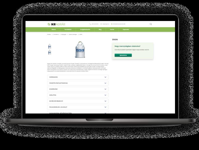Egyedi webfejlesztés: a LogiNet fejlesztette az IKR Agrár új weboldalát