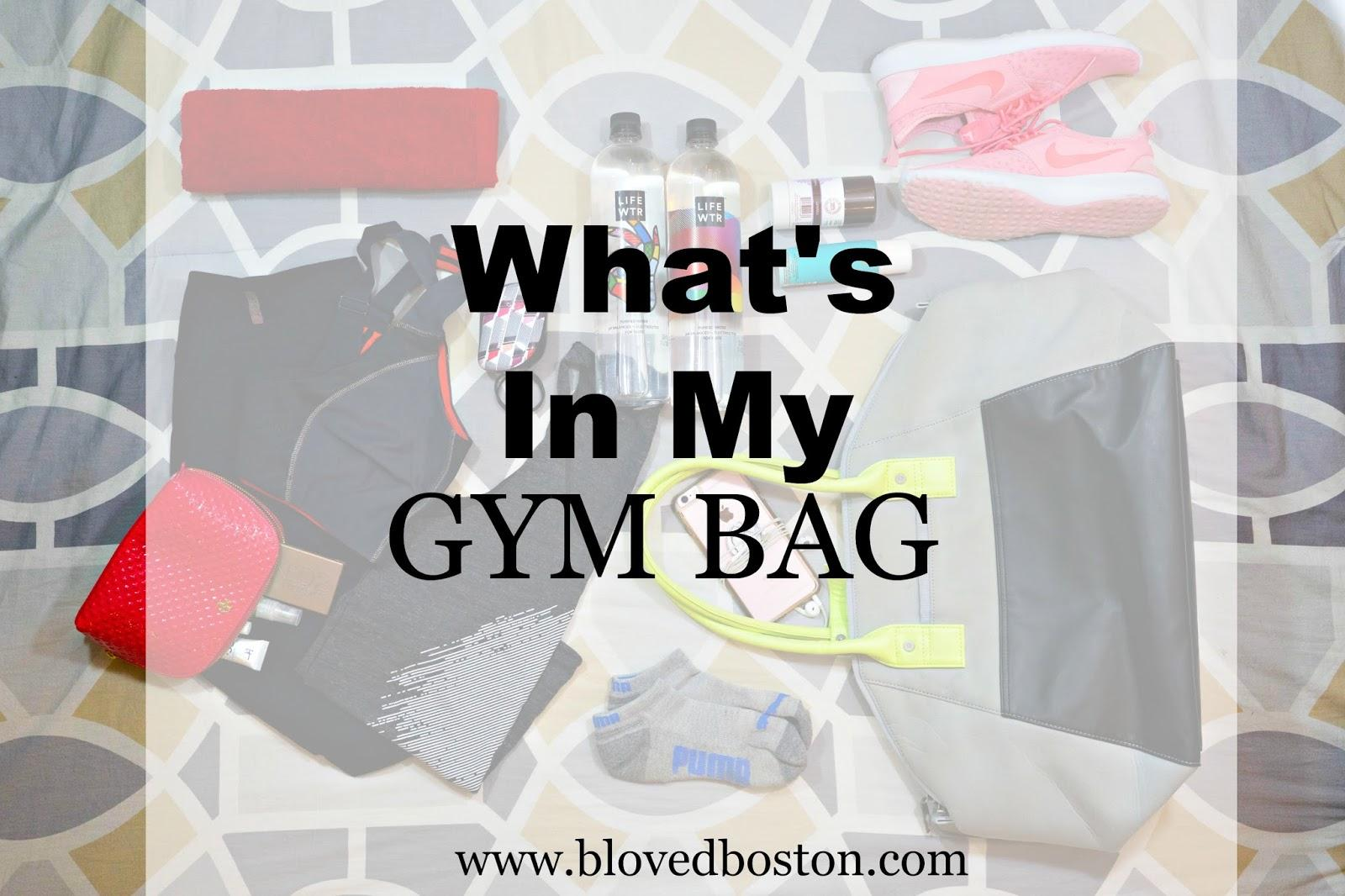 what to carry in your gym bag, packing a gym bag