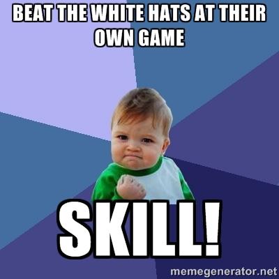 meme mũ trắng