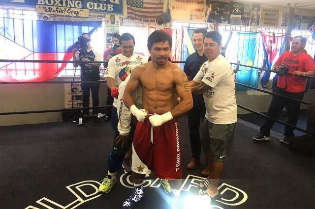 Image result for Pacquiao: Big honor to step inside boxing ring as senator
