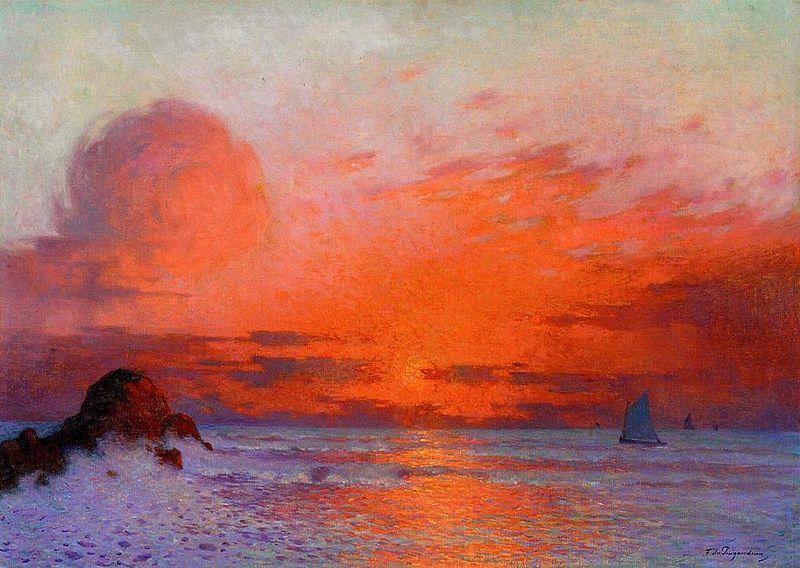 C:\Users\AURORA\Pictures\Desiré\Sailboast at sunset Ferdinand du puigaudeau.jpeg