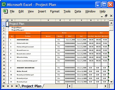 sample excel spreadsheet templates