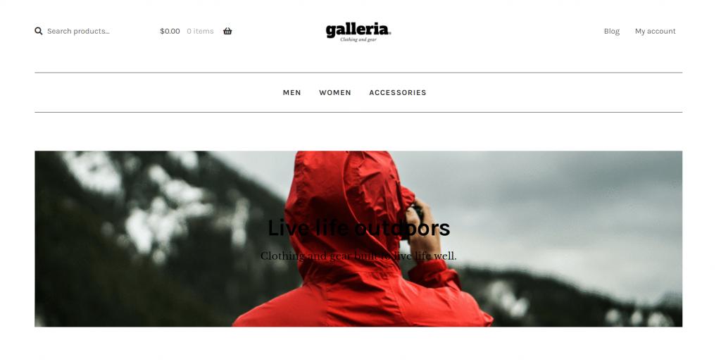 tema do wordpress Galleria