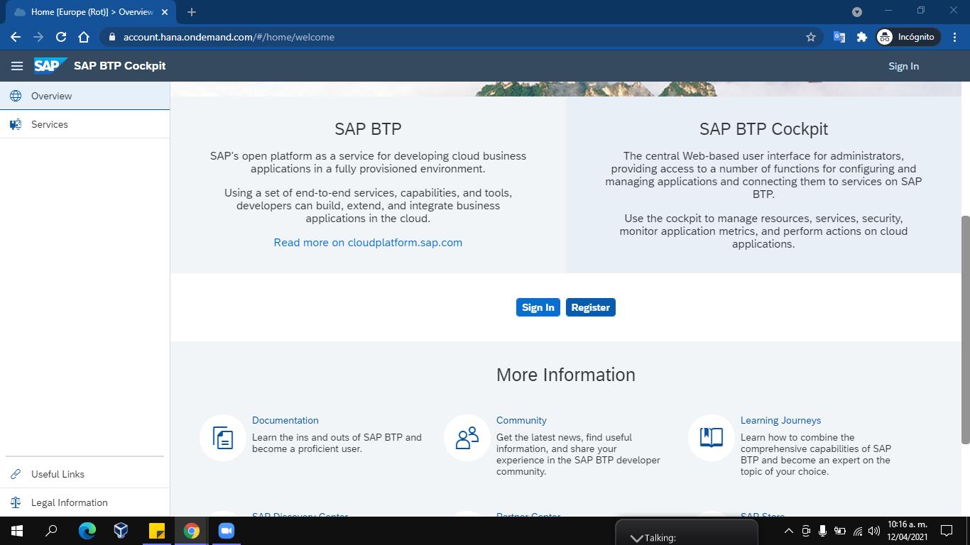 SAP - BTP - HOME