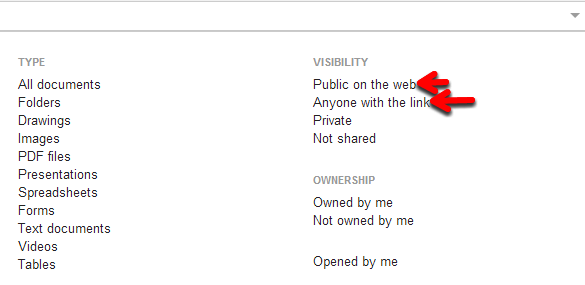 """Drive search filter """"Anyone with the link"""" - Google Product Forums"""