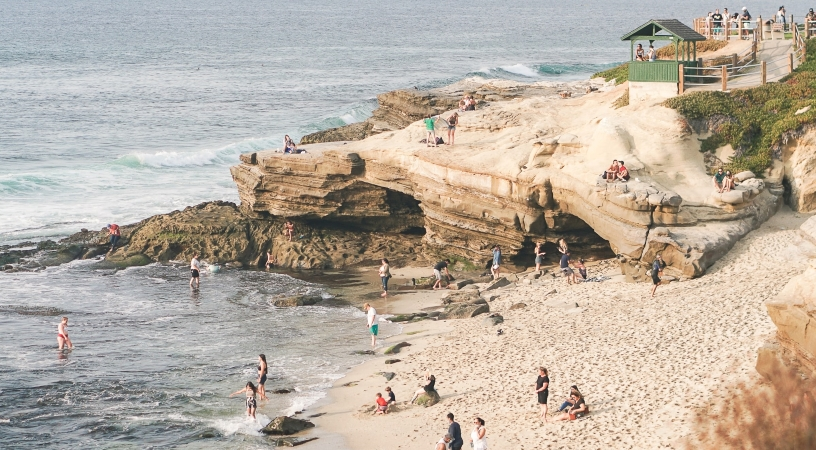 La Jolla Cove is one of many beaches in San Diego
