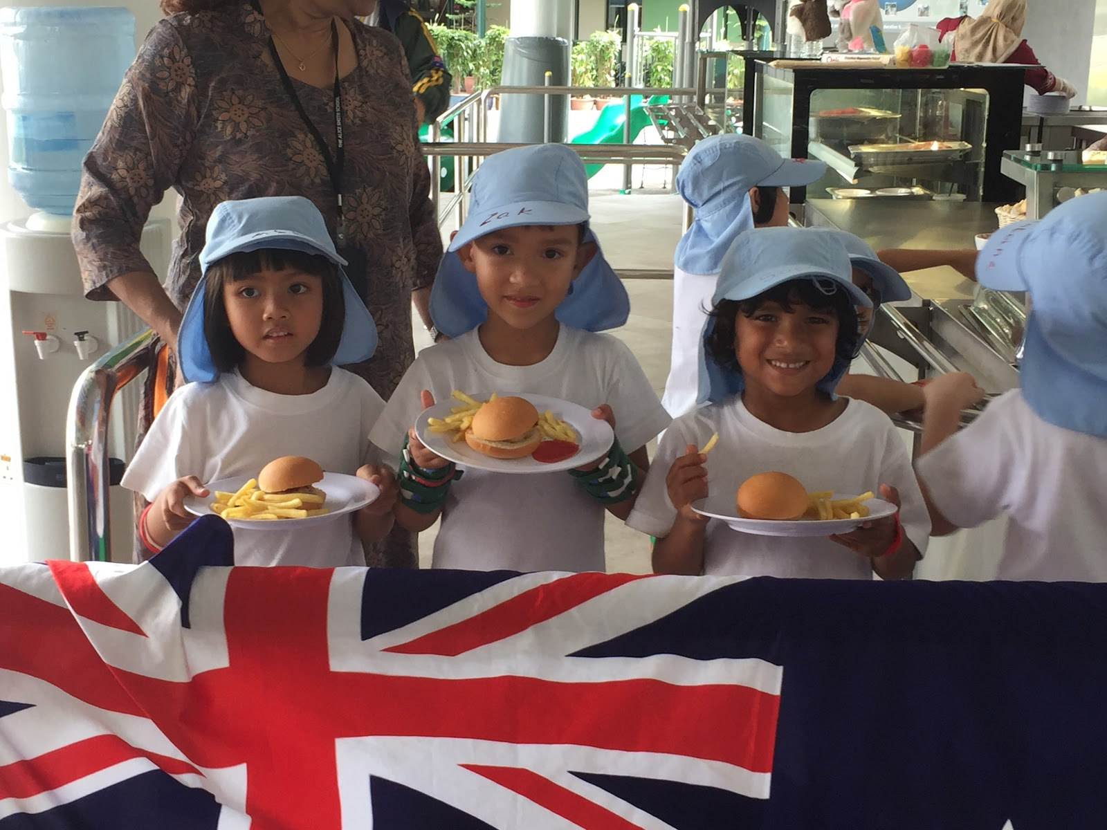 JB students with Australia Day lunch