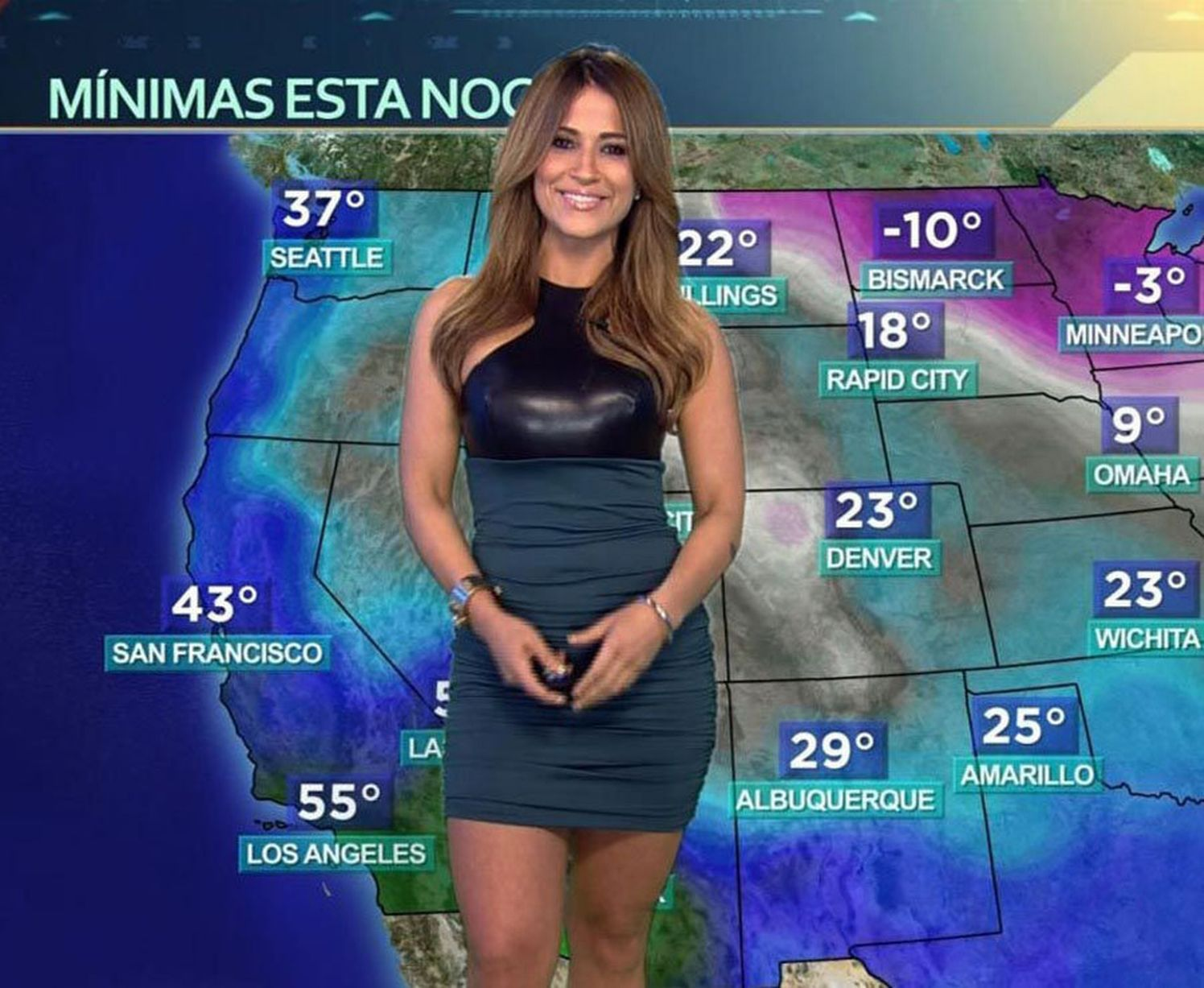 Jackie Guerrido who presents the weather for Despierta America