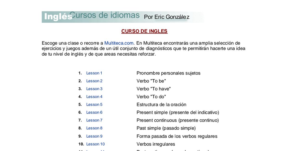 Curso De Ingles Completo Pdf Google Drive