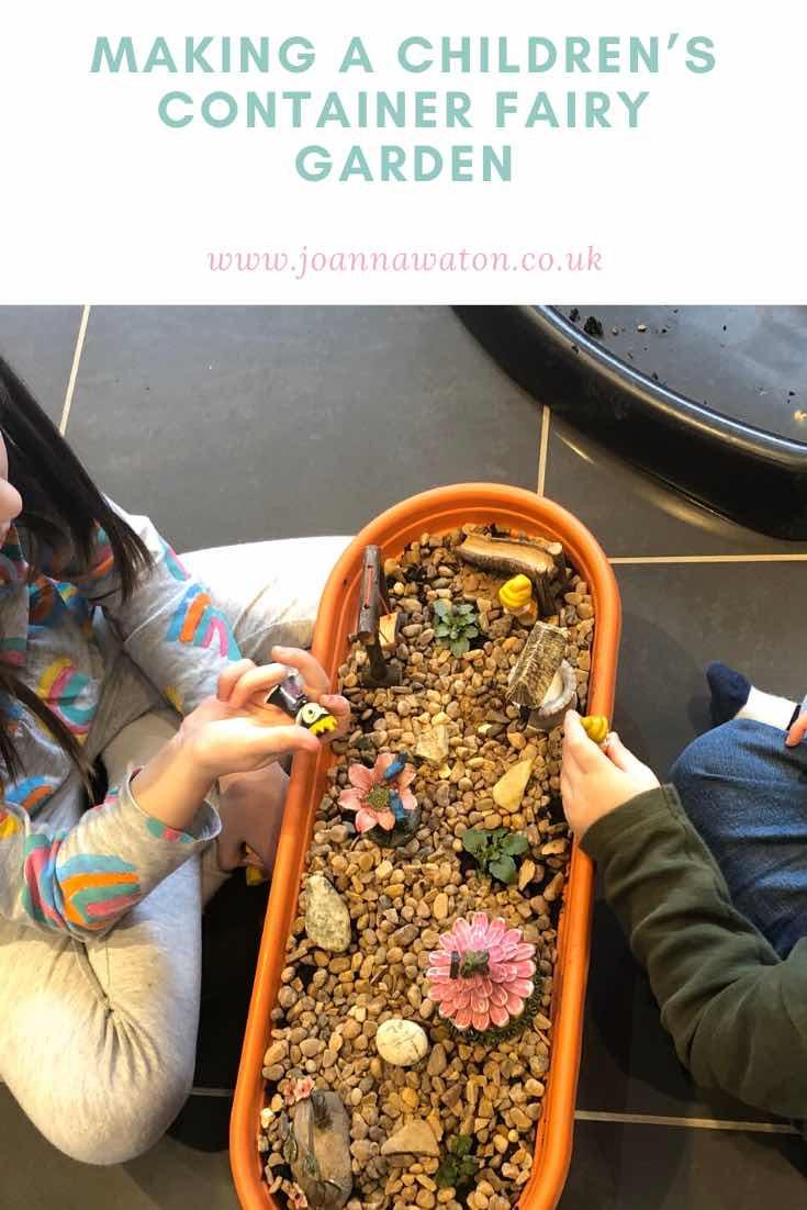 creating a container fairy garden