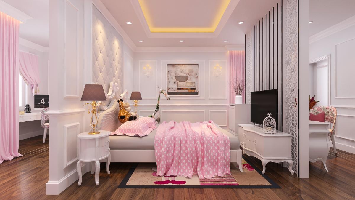 Phòng ngủ công chúa cho bé gái 2