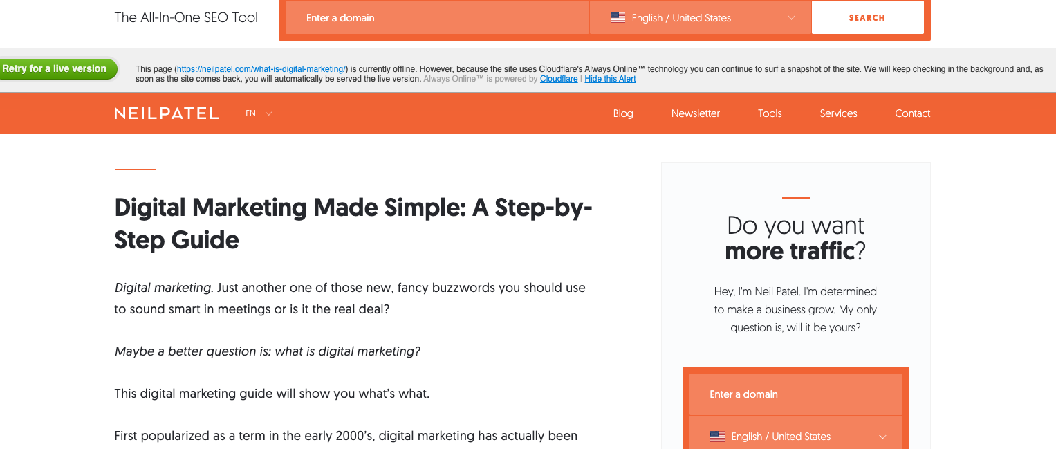 Learn Marketing: This is an introductory website for digital marketing. It emphasizes all the basic concepts used in digital marketing and will educate you with step by step procedures to marketize your website.