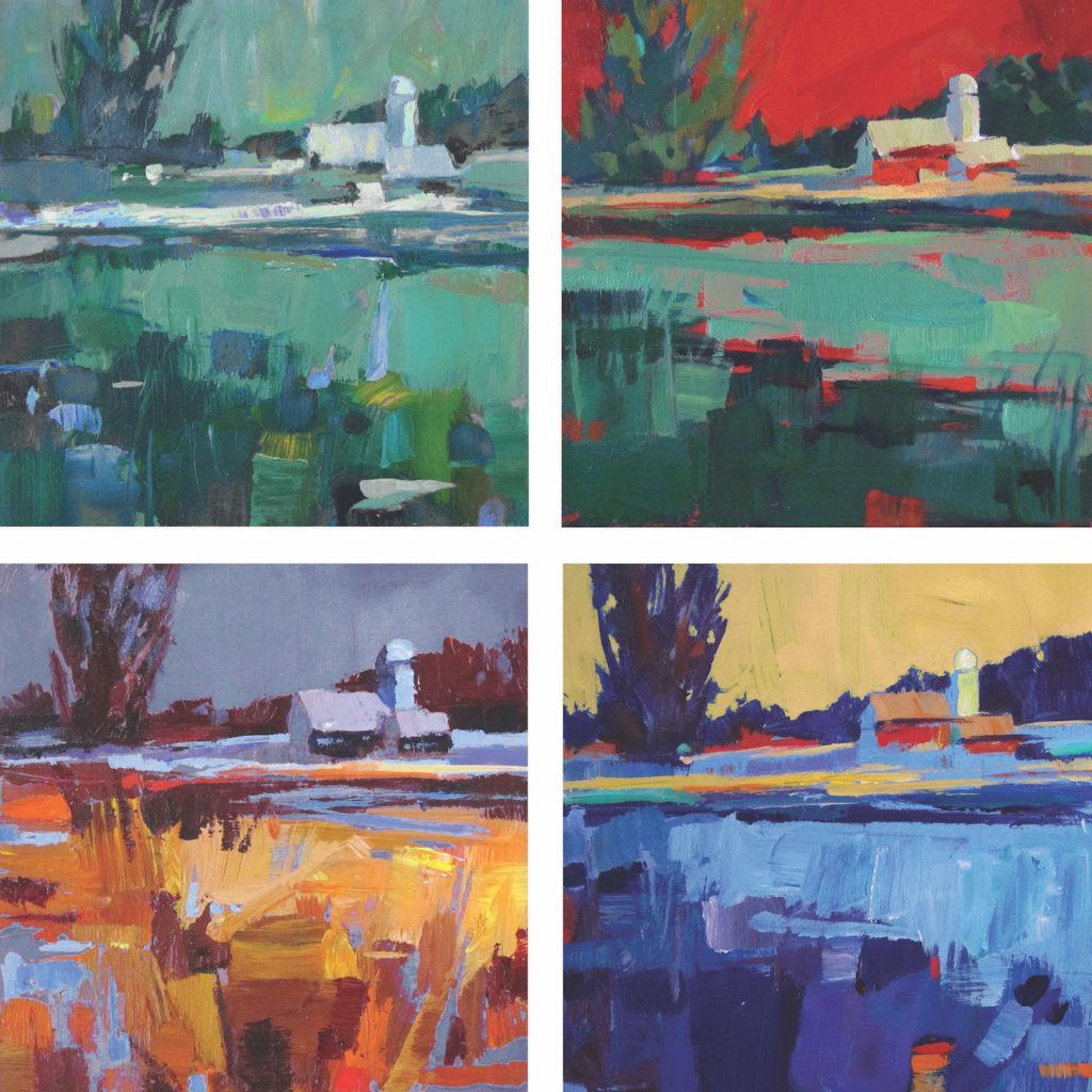 Bốn chuồng, bốn cách phối màu khác nhau của Patti Mollica |  Cách chọn phối màu