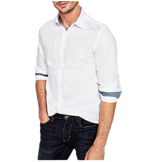 MEN SLIM: TWILL SHIRT WITH A WOVEN TEXTURE (S.OLIVER)