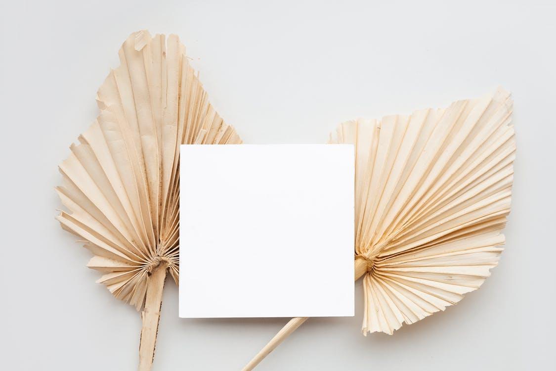 White Paper on Brown Wooden Sticks