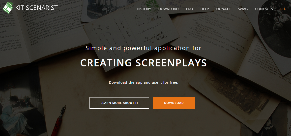 kit scenarist screenwriting software