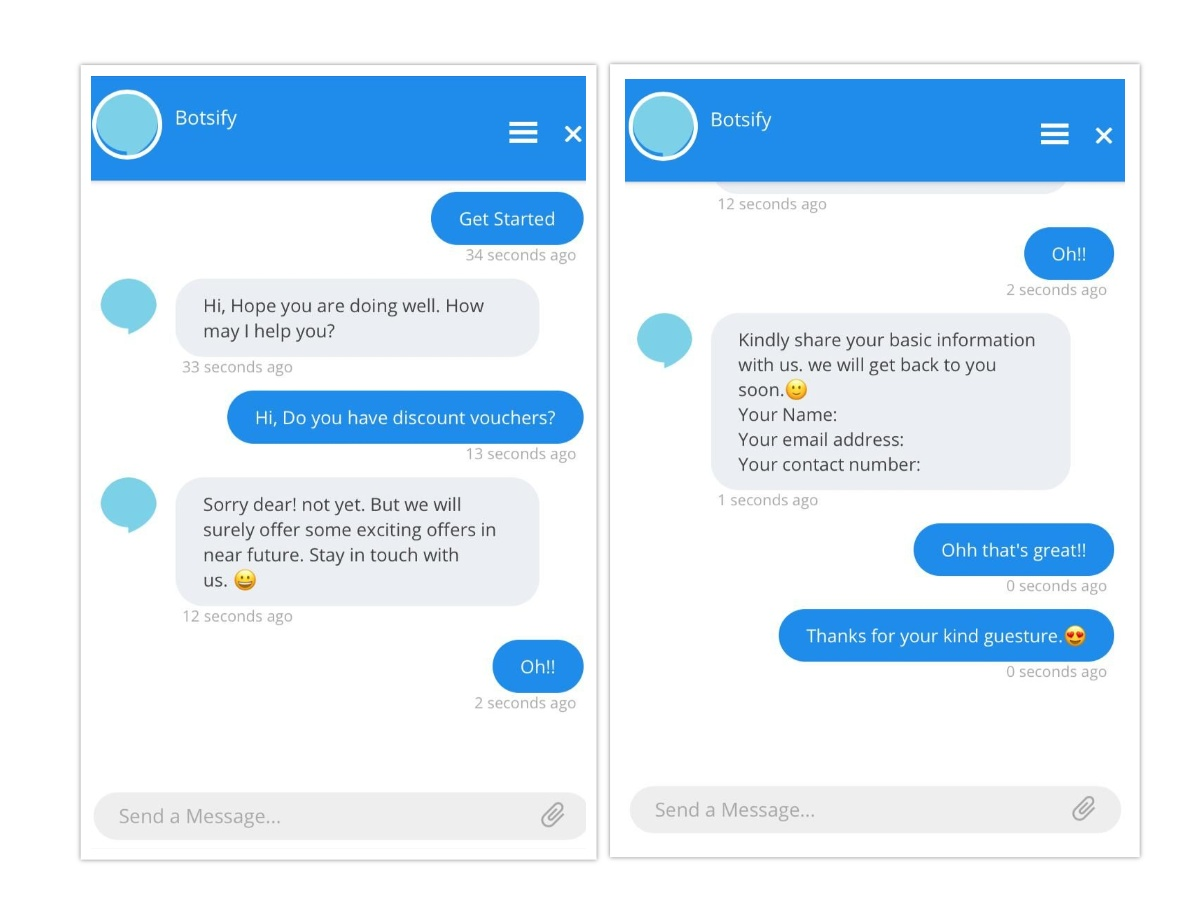Botsify clothing chatbot