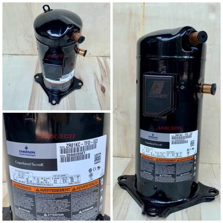 lắp đặt, cung ứng block lạnh Copeland 6,7 hp ZR81KC-TFD-522, HL: 0911.219.479