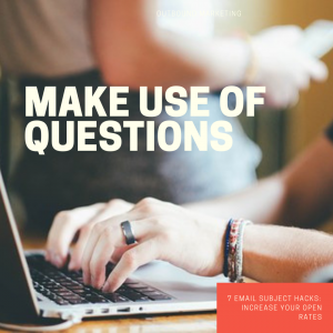 Make use of questions?