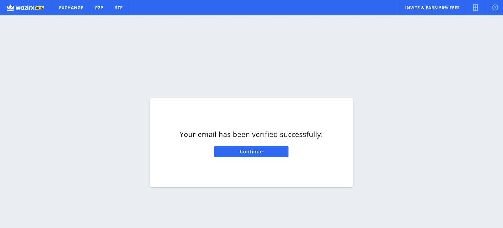 verified successfully page