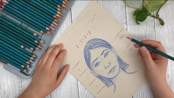 drawn face