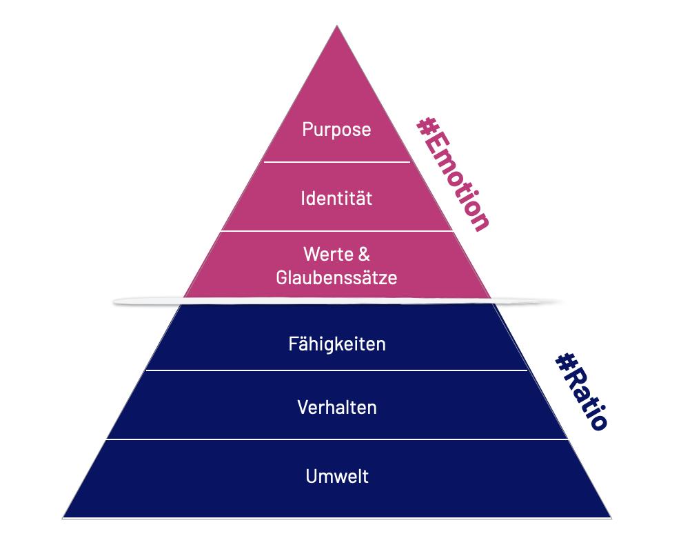 Die Dilts Pyramide als Instrument um dein Purpose zu entdecken.