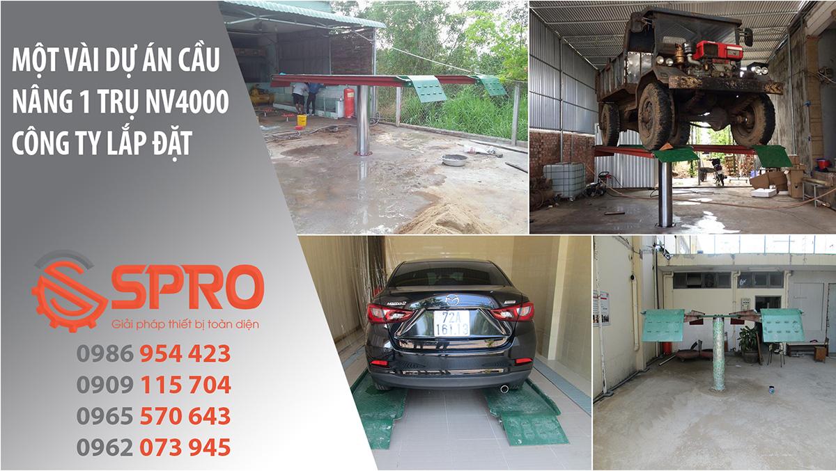 cầu nâng 1 trụ nv4000 là loại cầu nâng rửa xe chuyên nghiệp, có độ bền cao