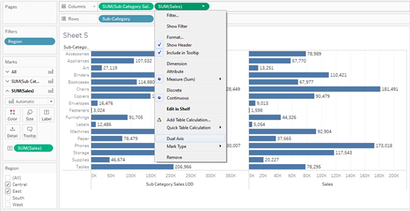 Tableau LOD UseCase#3 : LOD Comparative Analysis 34