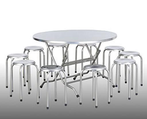 Kết quả hình ảnh cho Bộ bàn ghế inox tròn đặc điểm