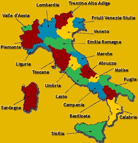 Italian Regions - Italian Food Decoder App