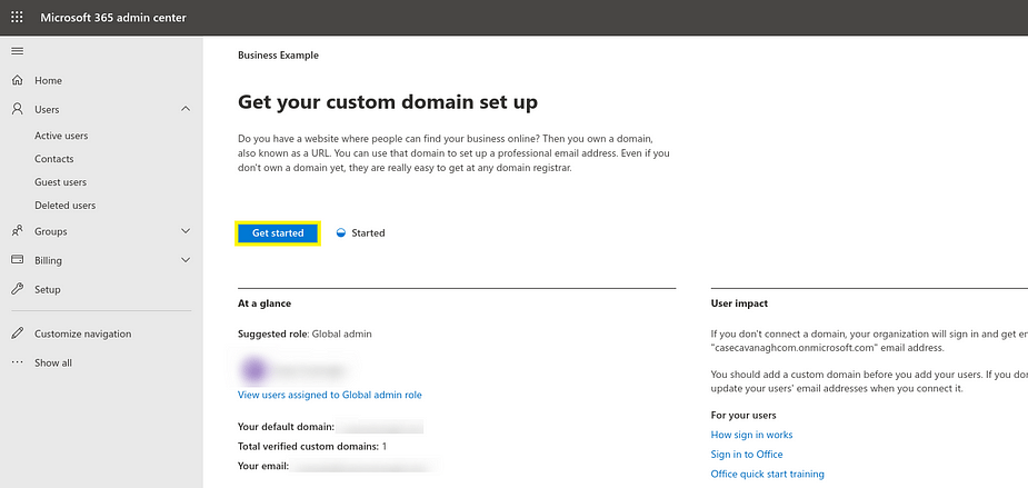 Thiết lập miền tùy chỉnh với Microsoft 365