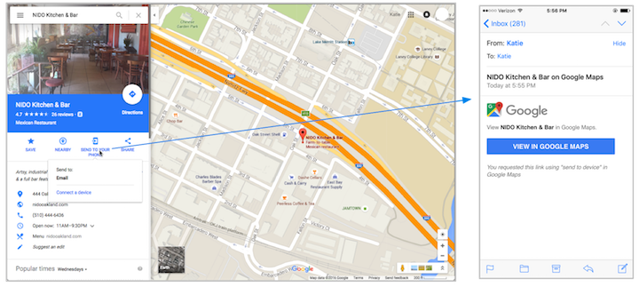 Google Maps Seamless Transition