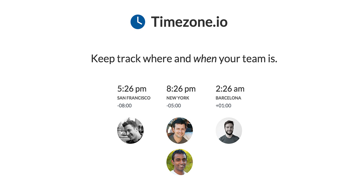 time zone management app for remote teams