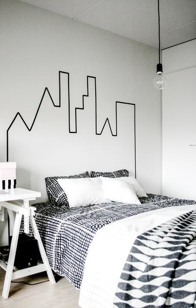 Sleeping Below Skyline DIY Idea For Wall